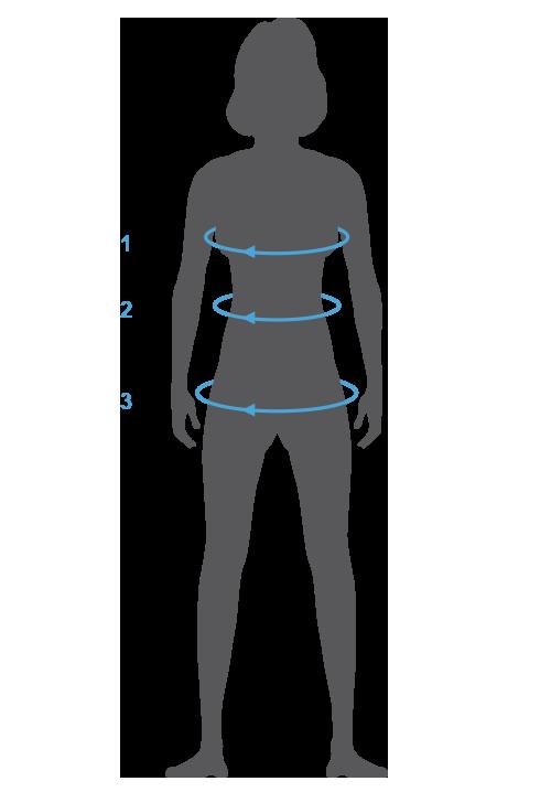 Hilfe zum Messen der Größen am eigenen Körper - Adidas Oberteile Damen