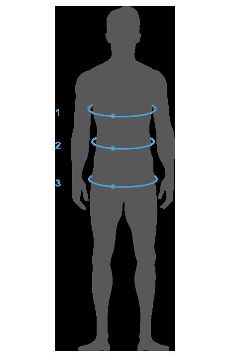 Hilfe zum Messen der Größen am eigenen Körper - Oberteile Herren