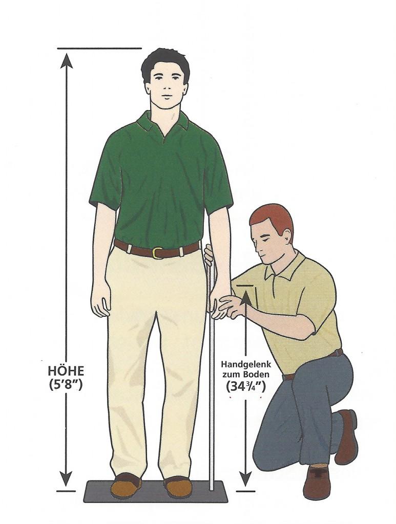 Golfschläger Fitting - statisches Fitting