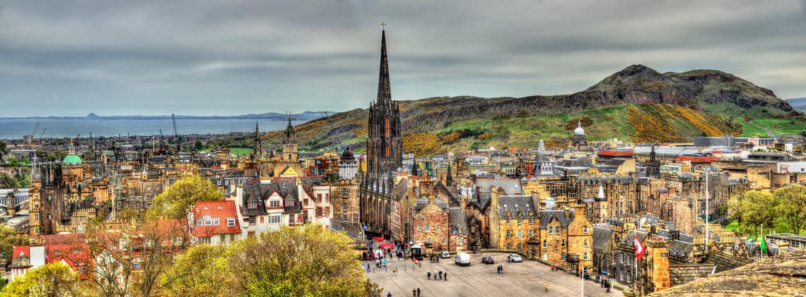 Panorama von Edinburgh von der Castle Schottland
